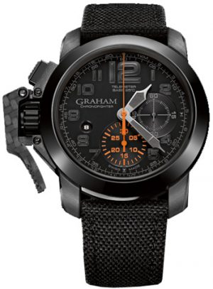 GRAHAM CHRONOFIGHTER OVERSIZE BLACK FOREST – 2CCAU.B01A.T12N