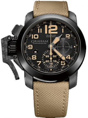 GRAHAM CHRONOFIGHTER OVERSIZE BLACK SAHARA – 2CCAU.B02A.T13N
