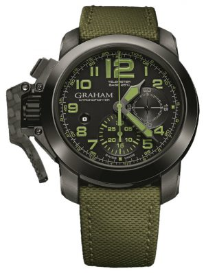 GRAHAM CHRONOFIGHTER OVERSIZE GREEN AMAZONIA - 2CCAU.G01A.T15N