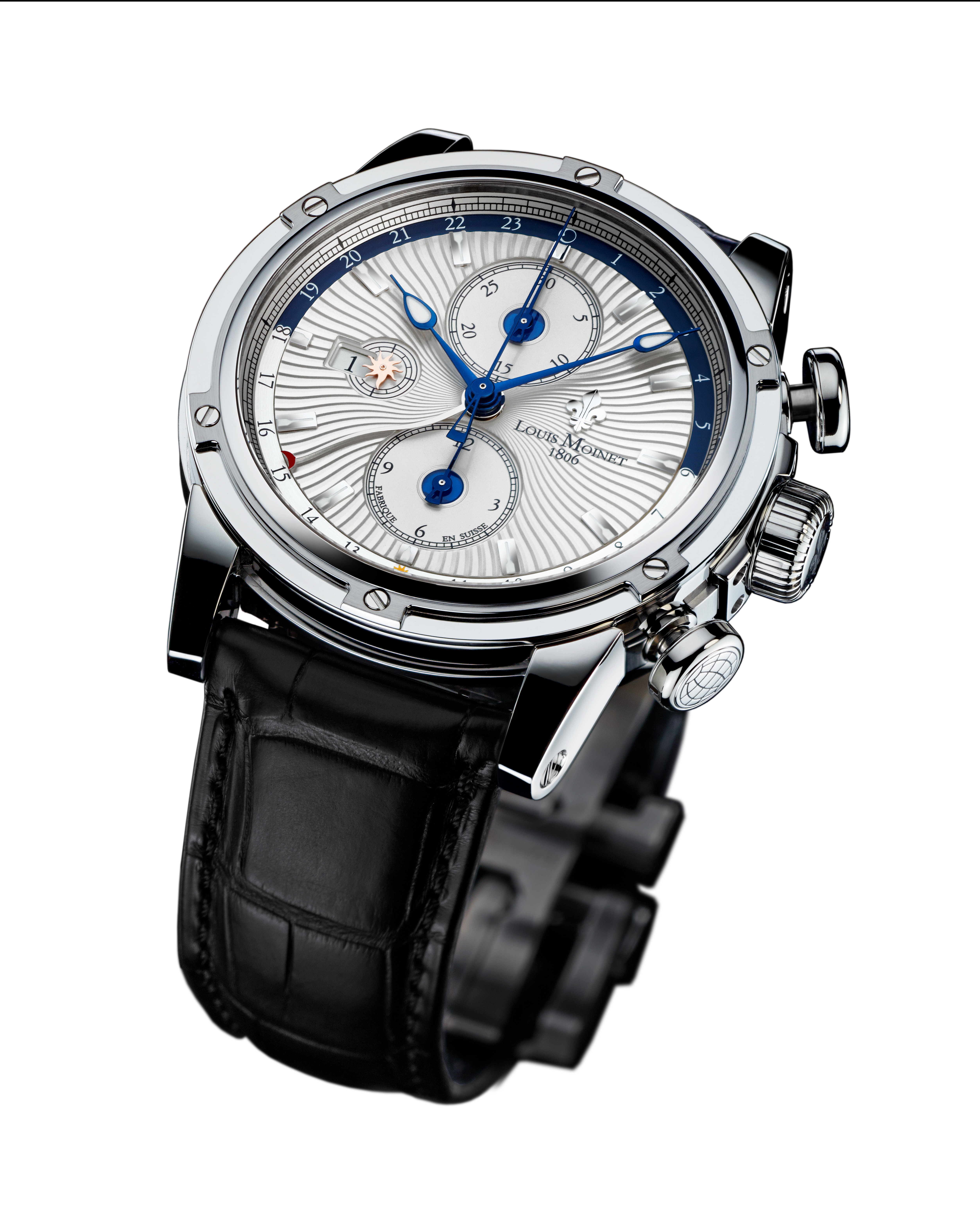 Louis moinet geograph lm swiss luxury watches for Louis moinet watch