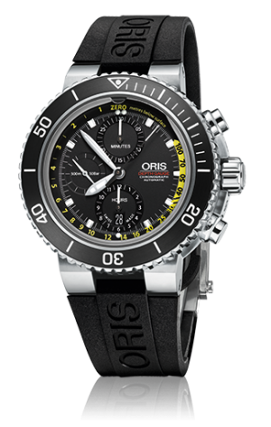 ORIS AQUIS DEPTH GAUGE CHRONOGRAPH - 01 774 7708 4154-SET RS