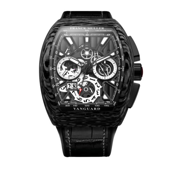 FRANCK MULLER VANGUARD GRAND DATE CARBON SKELETON - V45 CC GD SQT