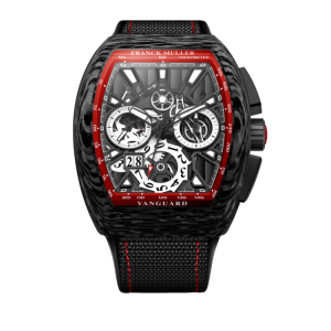 FRANCK MULLER VANGUARD GRAND DATE CARBON SKELETON RED - V45 CC GD SQT