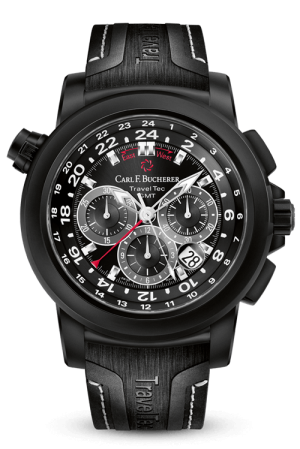 CARL F. BUCHERER TRAVELTEC BLACK - 00.10620.12.33.21