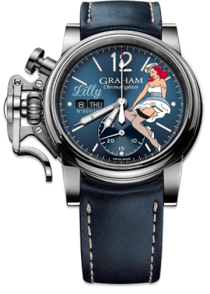 GRAHAM CHRONOFIGHTER VINTAGE NOSEART LILY – 2CVAS.U05A.L129S