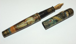 ARTUS GREAT WRITERS HEMINGWAY HAND-PAINTED FOUNTAIN PEN Ltd Edition