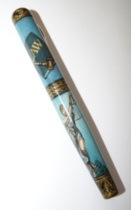 ARTUS JUSTICE HAND PAINTED FOUNTAIN PEN LTD Edition