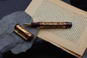 SANTINI ITALIA GAUDI VERMEILLE LIMITED EDITION FOUNTAIN PEN
