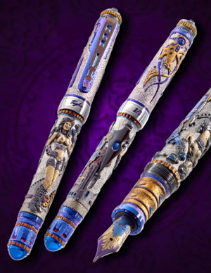 GRAYSON TIGHE NEW AGE STEAMPUNK LADY 1 FOUNTAIN PEN