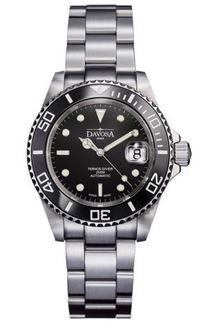 DAVOSA TERNOS BLACK 40MM AUTOMATIC 200M DIVER – 161.555.50