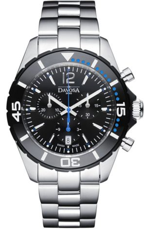 DAVOSA NAUTIC STAR BLACK/BLUE CHRONOGRAPH 100M – 163.473.45