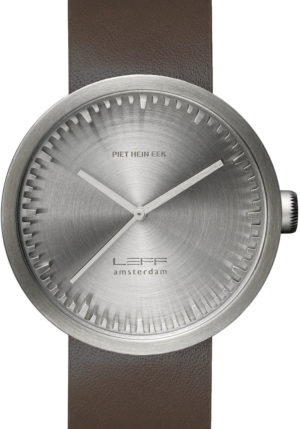 LEFF AMSTERDAM TUBE WATCH LEATHER D42 STEEL/BROWN – LT72002