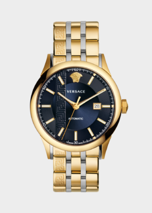 VERSACE GOLD TONED AIAKOS  AUTOMATIC MAN WATCH