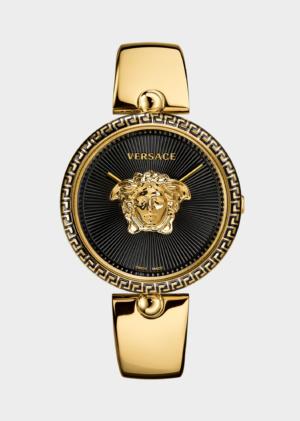 VERSACE BLACK-GOLD BANGLE PALAZZO EMPIRE LADY WATCH