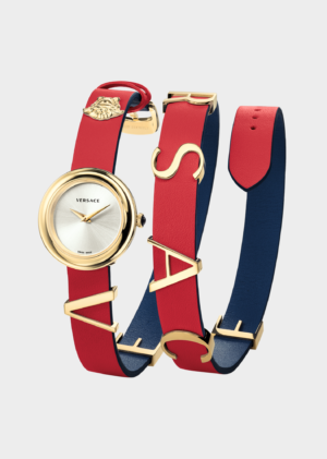 VERSACE V-FLARE RED-BLUE LADY WATCH