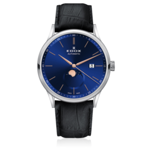 EDOX LES VAUBERTS LA GRANDE LUNE 42MM AUTOMATIC WATCH – 80500-3-BUIR