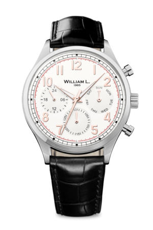 WILLIAM L. 1985 VINTAGE STYLE CALENDAR WATCH – WLAC03BCORCN