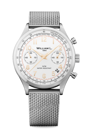 WILLIAM L. 1985 VINTAGE STYLE CHRONOGRAPH – WLAC01BCORMM