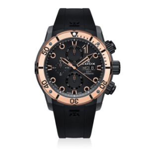 EDOX CO-1 CARBON AUTOMATIC CHRONOGRAPH –  01125-CLN5N-NIR