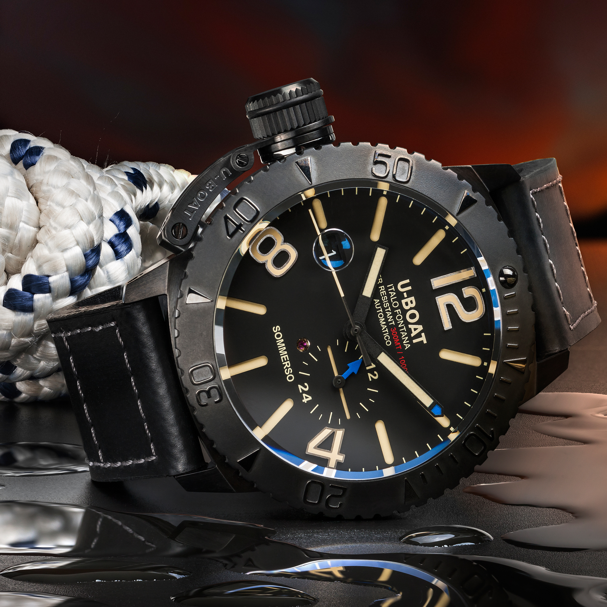 u boat sommerso  U-BOAT SOMMERSO DLC - 9015 - Swiss Luxury Watches